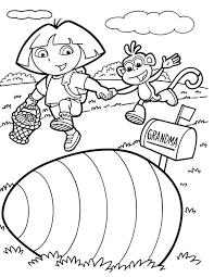 dora coloring pages kids