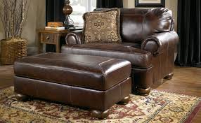 Wood And Leather Chair With Ottoman Design Ideas Furniture Cherrry Leather Chair And Ottoman With White Rug