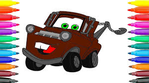 how to drawing cars 3 tow mater coloring pages how to paint cars 3