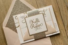 blush and gold wedding invitations blush gold wedding invitations real wedding kelli and viral