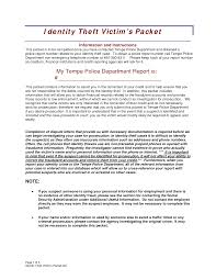 theft report form template best photos of sle theft report identity theft