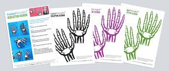 Skeleton Halloween Decoration Uk by Halloween Costumes Print A Paper Skeleton Hand Instantly