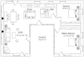 one floor plan breathtaking u shaped house plans 15 one plan with courtyard