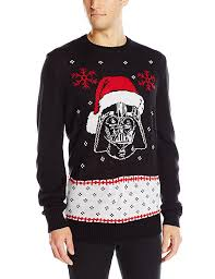 sweater wars wars s vader claus sweater black small at amazon s