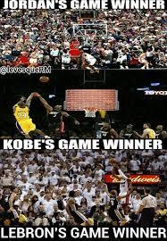 Kobe Lebron Jordan Meme - nba meme team on twitter game winners jordan vs kobe vs