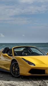 ferrari 488 wallpaper download wallpaper 750x1334 ferrari 488 spider yellow side