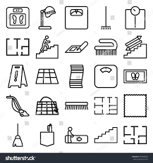 floor icons set set 25 floor stock vector 599338436 shutterstock