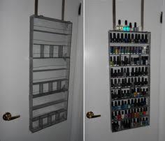 assorted acrylic nail polish rack wall mount holds 90 pc free