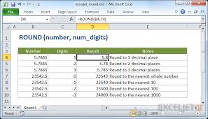 rounding integer numbers how to use the excel function exceljet