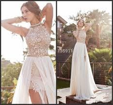 aliexpress com buy 2014 lace chiffon prom dresses halter beaded