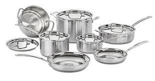 cuisine en batterie de cuisine batterie de cuisine multiclad pro cuisinart de 12 pièces en acier