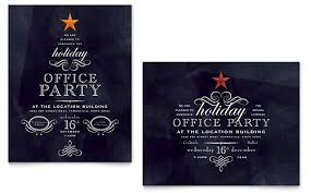 christmas party invitation template office party invitation template word publisher