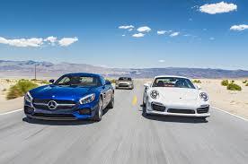 blue porsche 2016 mercedes amg gt s vs porsche 911 turbo s vs nissan gt r 45th