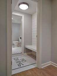 Fun Kids Bathroom - black and white kids bathroom with shiplap trim cottage bathroom
