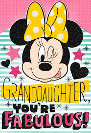minnie mouse birthday minnie mouse birthday card with sticker sheet for granddaughter