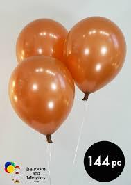 metallic balloons 12 metallic copper balloons 144 pc balloons