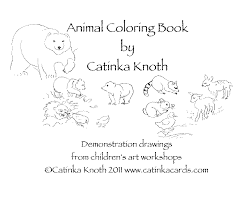 animal coloring book demonstration drawings catinka knoth