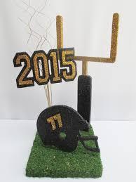 football themed centerpiece with goal post helmet 2015