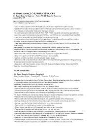 Security Clearance On Resume Michael Jones Resume Oct2015
