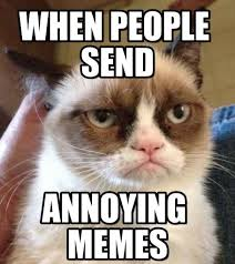 when people send grumpy cat reverse meme on memegen