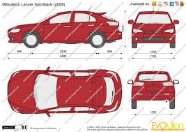 mitsubishi lancer sportback the blueprints com vector drawing mitsubishi lancer sportback