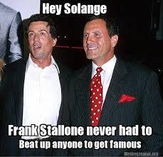 Stallone Meme - meme creator hey solange frank stallone never had to beat up