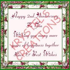 2nd wedding anniversary second marketplace ha19 happy 2nd wedding anniversary wear me