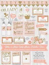 baby shower decor gold glitter u0026 blush pink stripes u2013 wonderbash