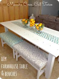 dining room diy farmhouse table u0026 benches 2017 dining room table