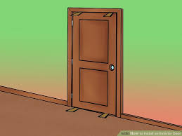 Exterior Door Install How To Install An Exterior Door 14 Steps With Pictures