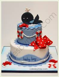 nautical baby shower cakes whale baby shower cake
