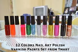 review of 12 colors nail art polish varnish paints set from tmart
