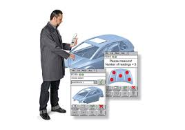 application notes quality control of paint coatings on car bodies
