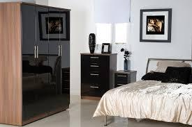 classy bedroom furniture in black gloss home design