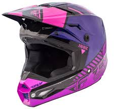 pink motocross boots elite onset pink purple black helmet fly racing motocross mtb