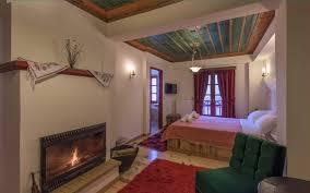 rooms with fireplace zagorochoria half board