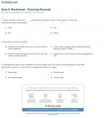 Beginner Reader Worksheets Quiz U0026 Worksheet Running Records Study Com
