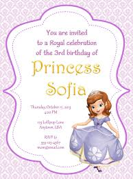 sofia the first party invitations sofia the first party