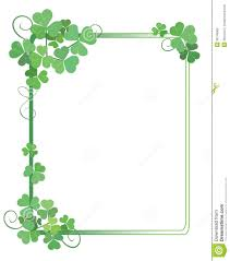 decorative green frame with shamrock vector royalty free stock