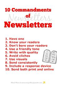 ten resume writing commandments 10 commandments of nonprofit newsletters