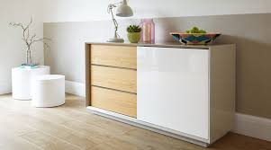 White Gloss Sideboards Modern Grey White And Oak High Gloss Sideboard Uk Delivery