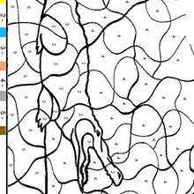 animal color by number coloring pages coloring pages printable