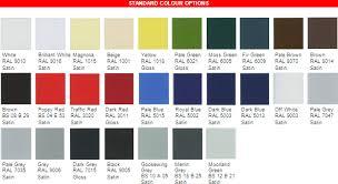 steel doors colours