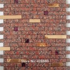 Stone Tile Kitchen Backsplash by 17 Best Metallic Tiles Images On Pinterest Metal Walls Mosaic