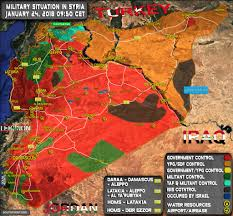 Punic Wars Map Syria Military Situation 24 January 2018 Map The Real Syrian