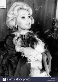 actress and socialite zsa zsa gabor with her dog in the 1970 u0027s