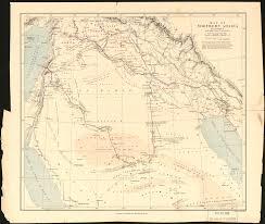 Arabian Desert Map Map Of Northern Arabia In Illustration Of Lady Anne Blunt U0027s