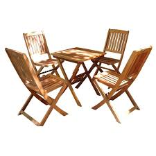 Folding Bistro Chairs Glaser 5 Piece Folding Bistro Set Free Shipping Today