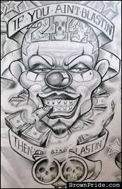 images evil gangster clown drawings lowrider