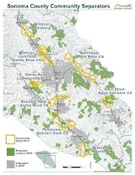 Sonoma California Map Home Conservation Action
